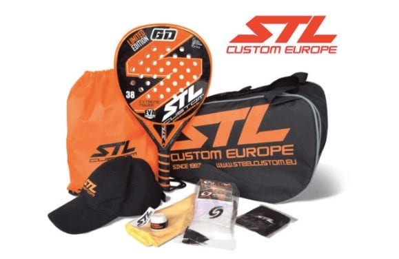 chollo-pala-padel-pack-steel-custom-gd-limited-edition-eva-soft-plus