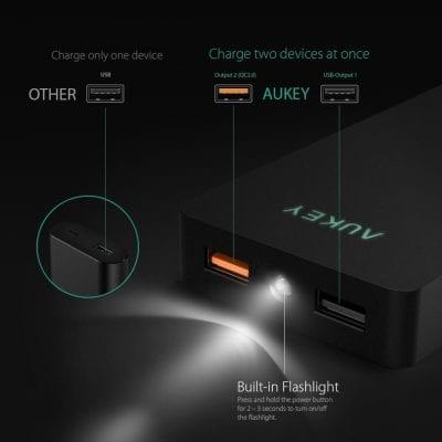 oferta bateria externa portatil aukey barata descuento amazon SuperChollos