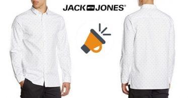 chollo camisa blanca hombre jack jones slim fit barata descuento amazon SuperChollos
