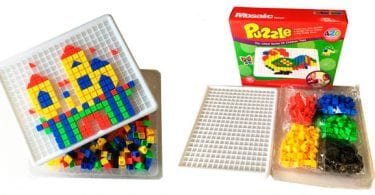 mosaico infantil tipo puzle con piezas de colores para arte creativo SUPERCHOLLOS SuperChollos