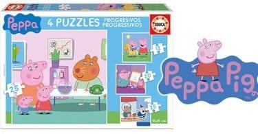 peppa pig 4 puzles progresivos infantil barato superchollos SuperChollos