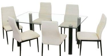 conjunto comedor mesa cristal 4 sillas baratos ebay superchollos SuperChollos