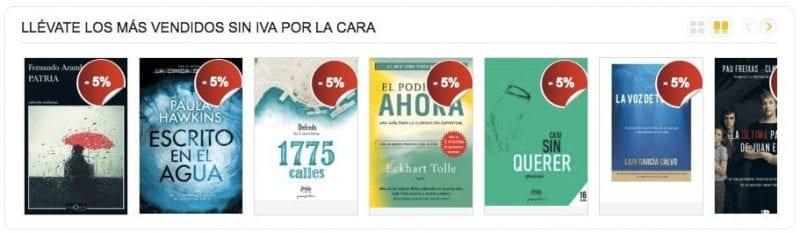 La Casa del Libro Di%CC%81as sin IVA libros ma%CC%81s vendidos SuperChollos