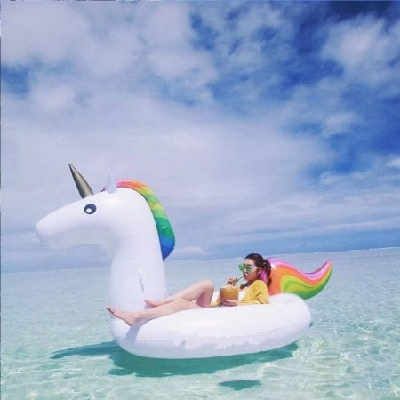 colchoneta unicornio barata verano SuperChollos