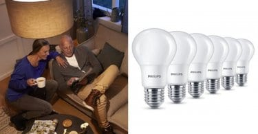 Pack de 6 bombillas LED Philips 8W. Ofertas en bombillas LED bombillas LED baratas chollo SuperChollos