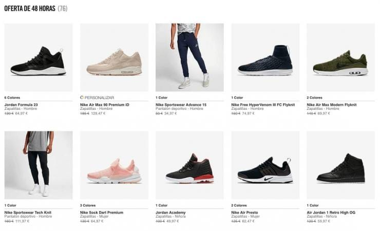 zapatillas hombre ofertas flash nike