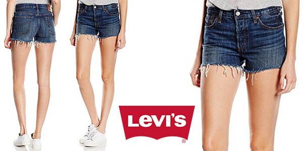 Oferta Pantalones Cortos Levi S 501 Short Para Mujer Solo 27 50