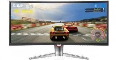 Monitor LED curvo ultrapanormico 35 pulgadas BenQ. Ofertas en monitores LED monitores LED baratos chollo SuperChollos