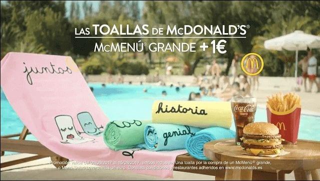 Promocio%CC%81n toallas a 1 euro mcdonalds SuperChollos