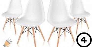 Pack 4 sillas de comedor1 SuperChollos
