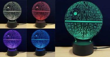 star wars estrella de la muerte lampara led 3d barata SuperChollos