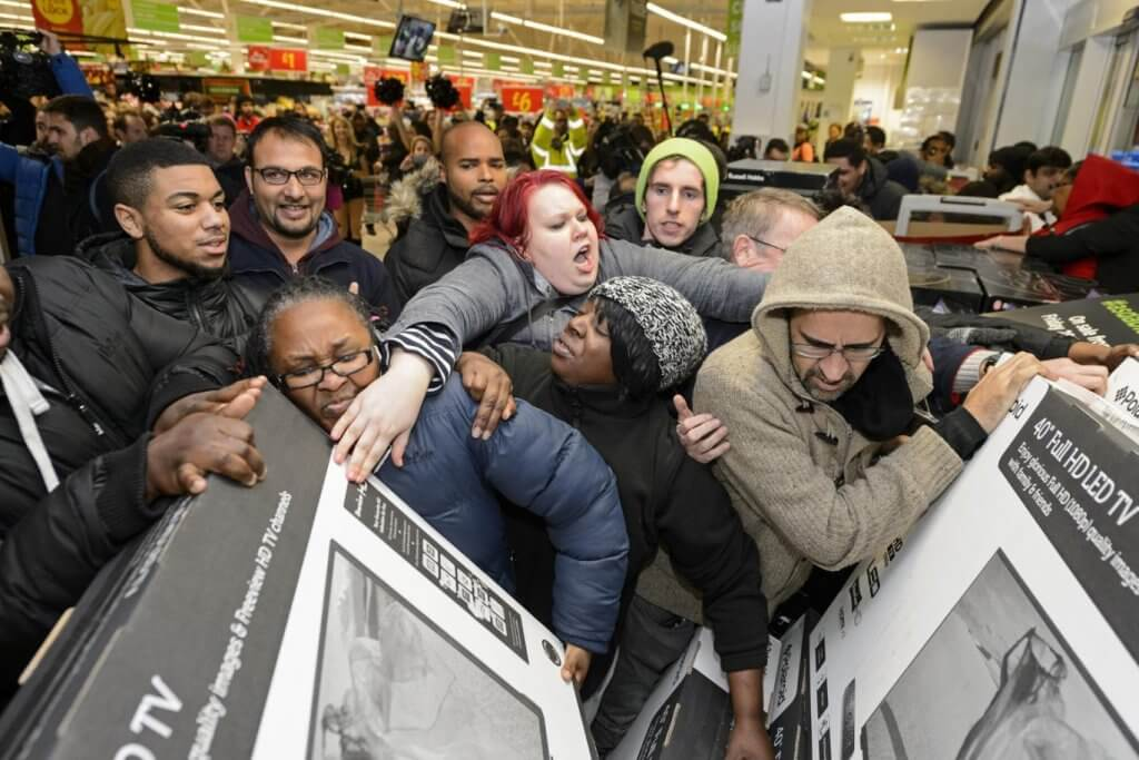 postal tipica del Black Friday en EEUU SuperChollos