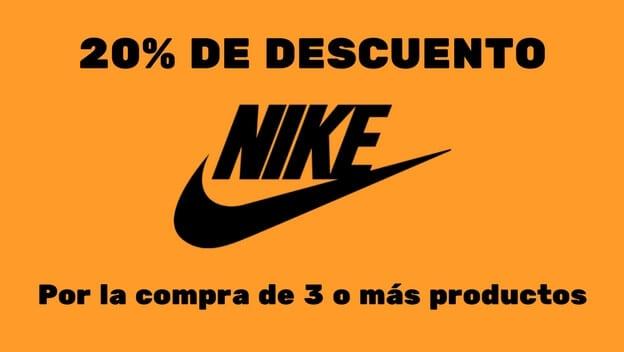horizonte Compadecerse Cava  REBAJAS NIKE! Cupón 20% EXTRA DTO. en el Outlet de NIKE