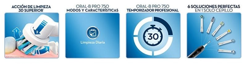 oferta cepillo electrico oral b pro 750 cross action barato SuperChollos