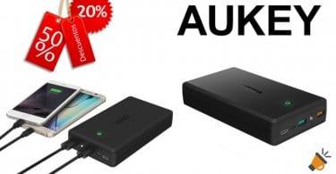 AUKEY USB C Bateria Externa 30000mAh SuperChollos