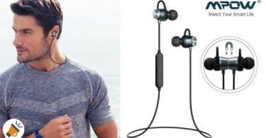 oferta auriculares magneticos deportivos mpow baratos SuperChollos