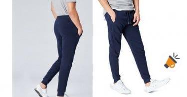 pantalon deportivo find hombre jogger amazon barato azul gris SuperChollos