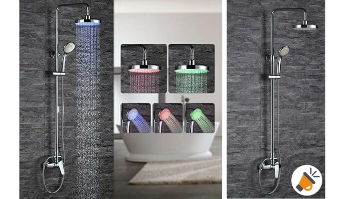 oferta columna de ducha conjunto ducha homelody barato SuperChollos