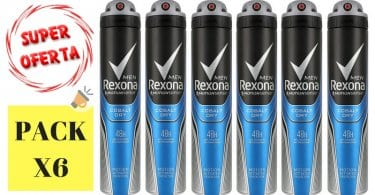 Oferta Pack de 6 desodorantes Rexona Cobalt barato descuento amazon SuperChollos