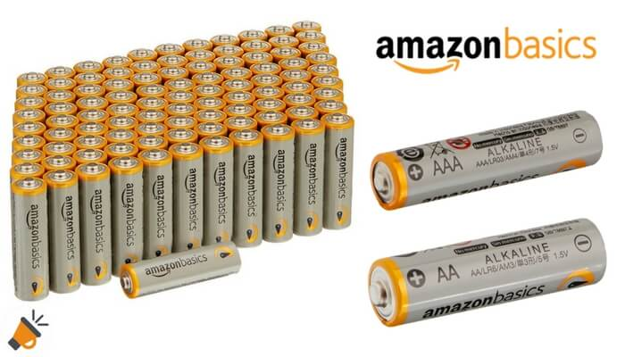 pilas alcalinas AmazonBasics AA y AAA SuperChollos