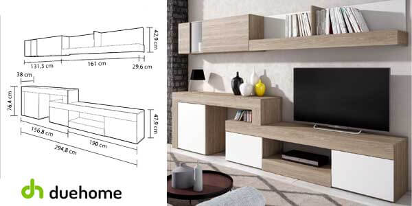 mueble modular moderno salon comedor argos duehome ebay barato SuperChollos