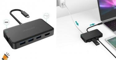 oferta dodocool Hub USB C 8 en 1 barato descuento amazon SuperChollos