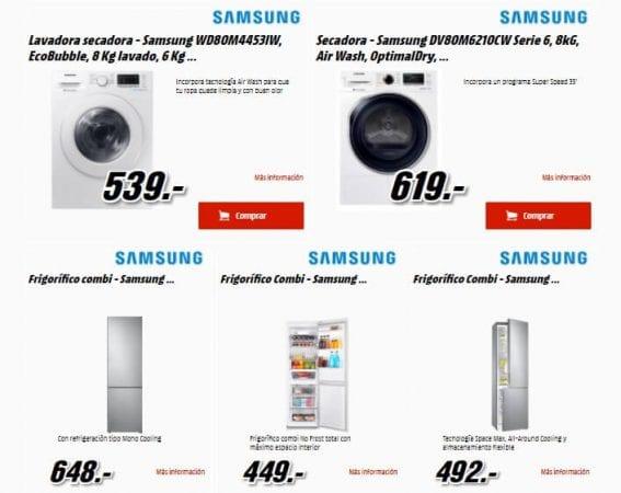 samsung days media markt descuentos electrodom%C3%A9sticos lavadora secadora frigor%C3%ADfico ofertas SuperChollos