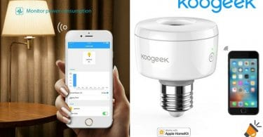 oferta Portala%CC%81mparas inteligente Koogeek Apple HomeKit barato descuento amazon SuperChollos