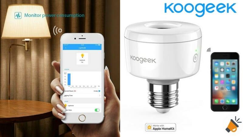 oferta Portala%CC%81mparas inteligente Koogeek Apple HomeKit barato descuento amazon SuperChollos