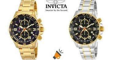 oferta reloj de cuarzo cronografo invicta acero inoxidable barato SuperChollos