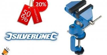 oferta Silverline VC17 Tornillo de banco multiangular barato descuento amazon SuperChollos