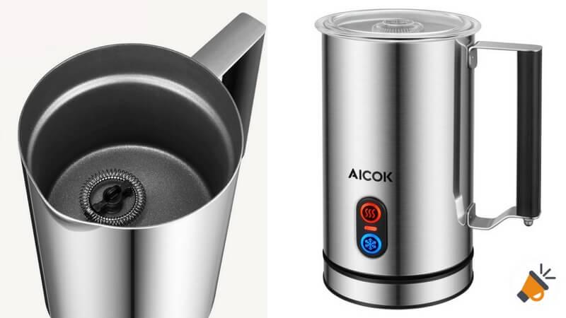 oferta vaporizador automa%CC%81tico de leche Aicok barato descuento amazon SuperChollos