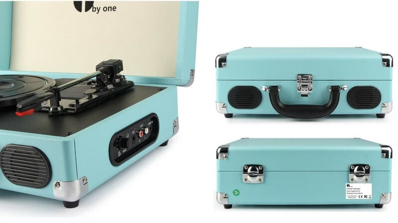 oferta tocadiscos vinilo plaraforma giratoria 1byone estilo retro barato SuperChollos