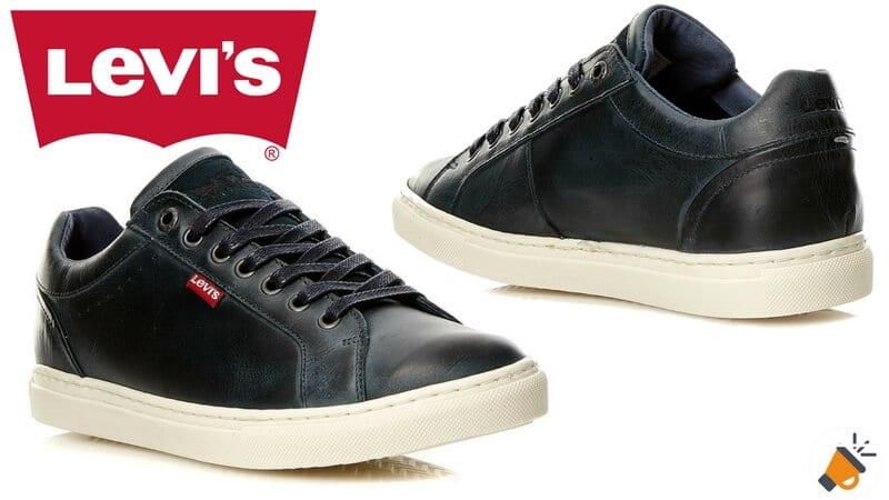 oferta Levis Perris Derby Zapatillas de cuero baratas chollo ebay SuperChollos