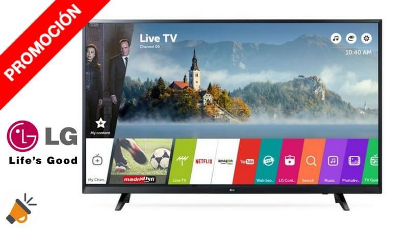 oferta smart tv TV LG 49UJ620V barata chollo ebay SuperChollos