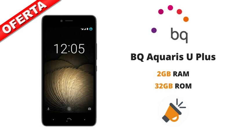 oferta comprar smartphone movil bq aquaris u plus 2gb 32gb barato SuperChollos