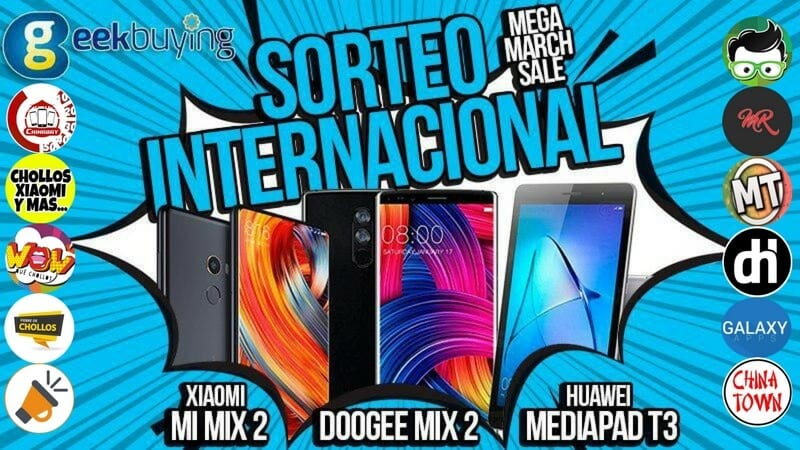 Sorteo Geekbuying Mega March Sale SuperChollos