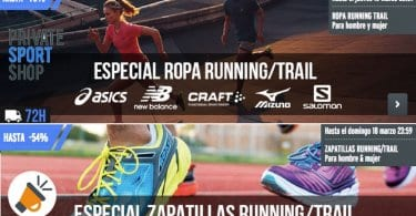 ofertas zapatillas y ropa running private sport shop SuperChollos