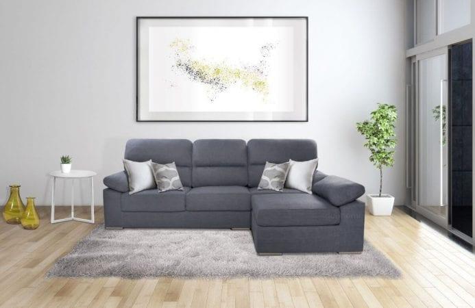 Sofa puf chaiselongue reversible SuperChollos