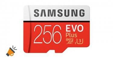 oferta tarjeta memoria micro sd samsung evo plus 256 gb barata SuperChollos