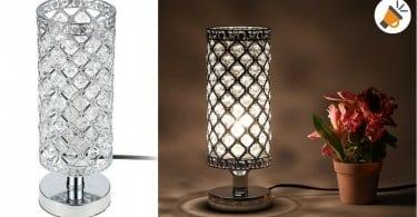 oferta lampara de mesa cristal tomshine barata SuperChollos