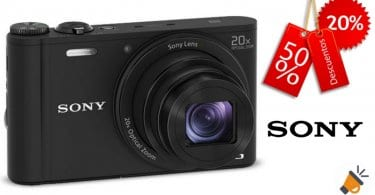 oferta camara Sony DSC WX350 barata chollo amazon SuperChollos