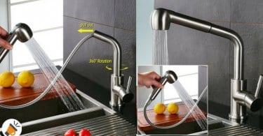 oferta HOMELODY 2 funciones 360%C2%B0 Giratorio Grifo de cocina barato SuperChollos