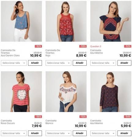 camisetas mujer springfield SuperChollos