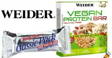 oferta Barritas Weider Vegan Protein baratas chollo amazon SuperChollos