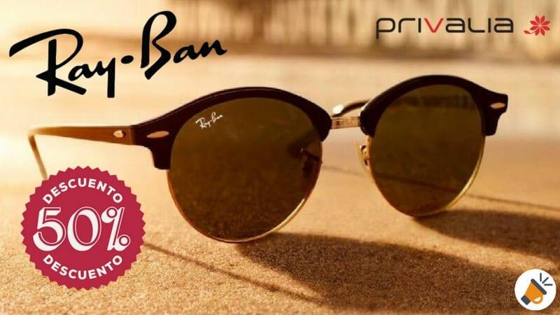 descuento privalia en gafas de sol ray ban SuperChollos