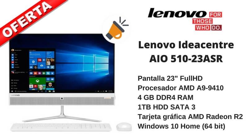 oferta lenovo ideacentre AIO 510 23ASR 4gb 1tb ordenador mesa barato SuperChollos
