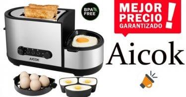 oferta tostadora multifuncio%CC%81n Aicok barato SuperChollos