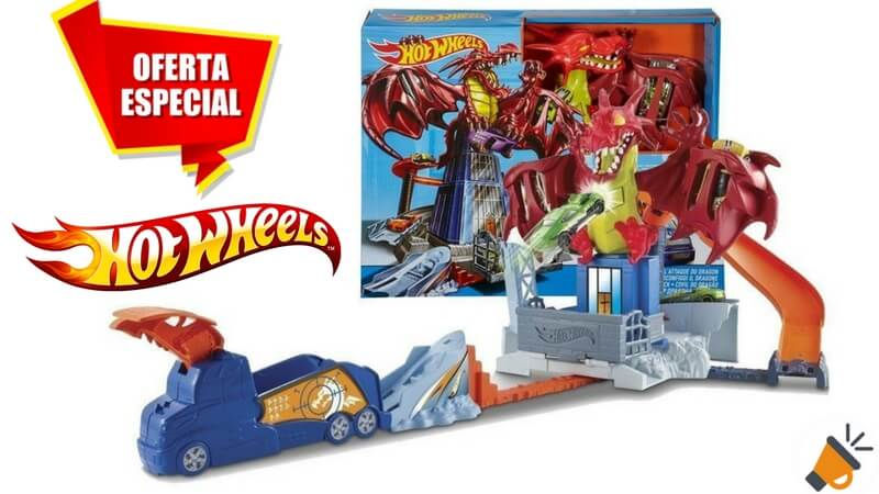 oferta Hot Wheels Juego creativo Dragon Attack barato SuperChollos