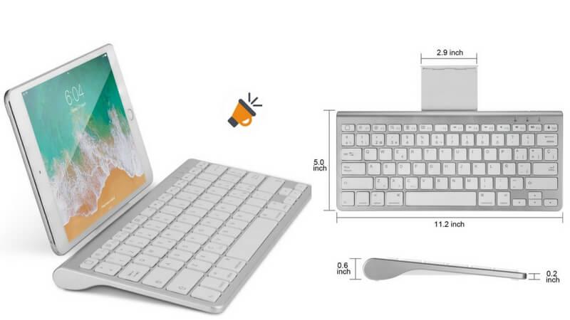 teclado bluetooth soporte iPad iPhone inal%C3%A1mbrico barato SuperChollos